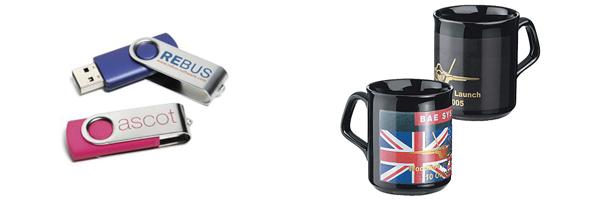 Mugs and USB Pens